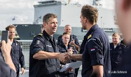receiving the Dutch Navy Medal